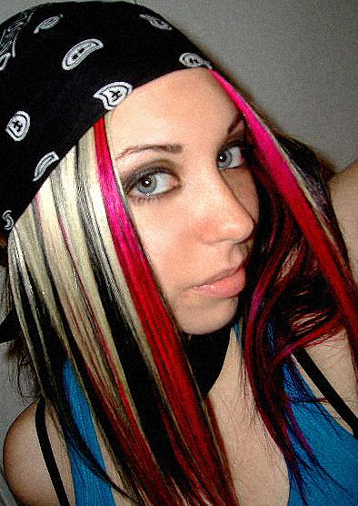 dark hair with pink highlights. Hair And Pink Highlights.